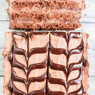 Chocolate Cheesecake Ice Box Cake recipe | What Charlotte Baked
