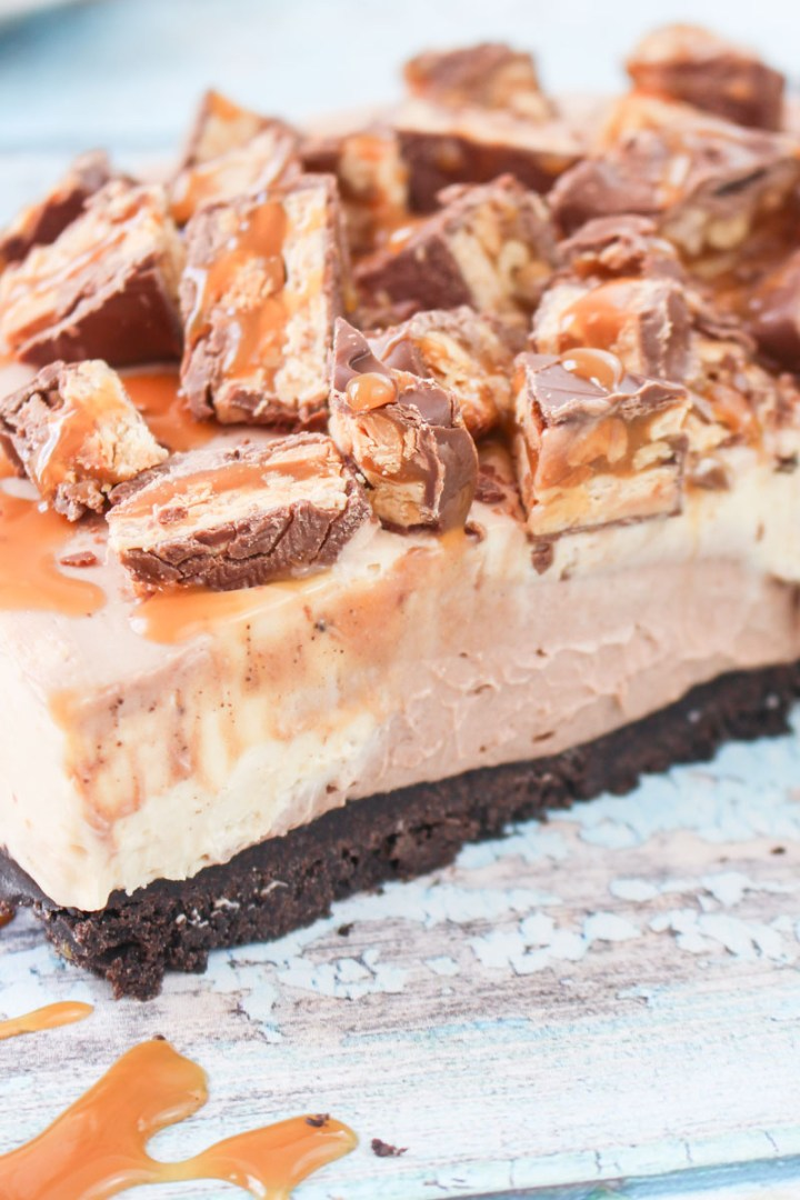 Snickers Cheesecake (No-Bake) recipe   What Charlotte Baked