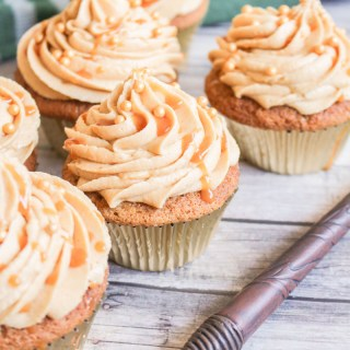 Butterbeer Cupcakes recipe | What Charlotte Baked
