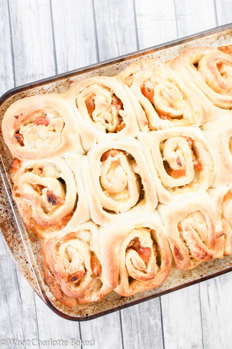 Apricot & Almond Breakfast Rolls recipe | What Charlotte Baked