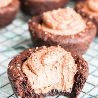 Dark Chocolate Cheesecake Cookie Cups recipe | What Charlotte Baked