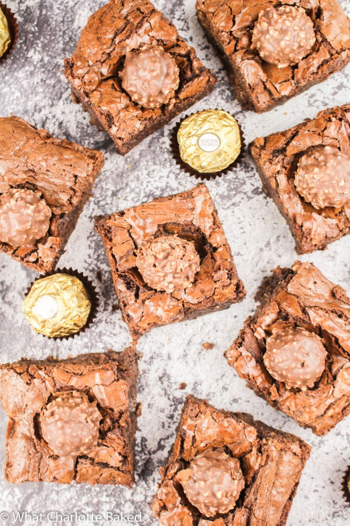 Ferrero Rocher Brownies recipe | What Charlotte Baked