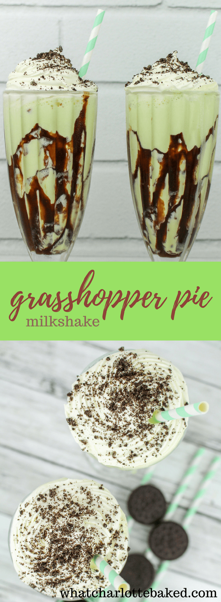 Grasshopper Pie Milkshake recipe | What Charlotte Baked