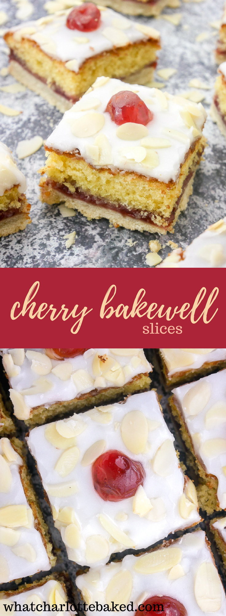 Cherry Bakewell Slice recipe | What Charlotte Baked