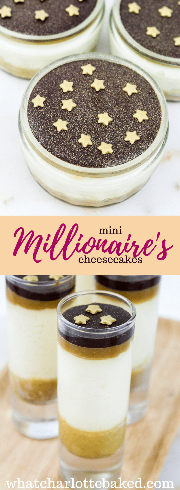 Mini Millionaire's Cheesecakes recipe | What Charlotte Baked