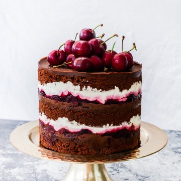 Black Forest Naked Cake recipe | What Charlotte Baked