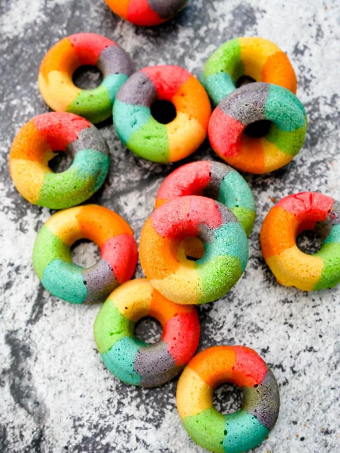 Mini Rainbow Doughnuts (Baked) recipe | What Charlotte Baked