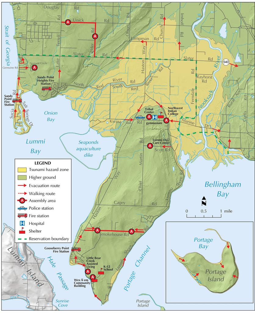 tsunami evacuation map ferndale