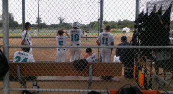 Whatcom Americans baseball team playing at Ferndale