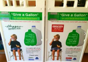 milk drive signs