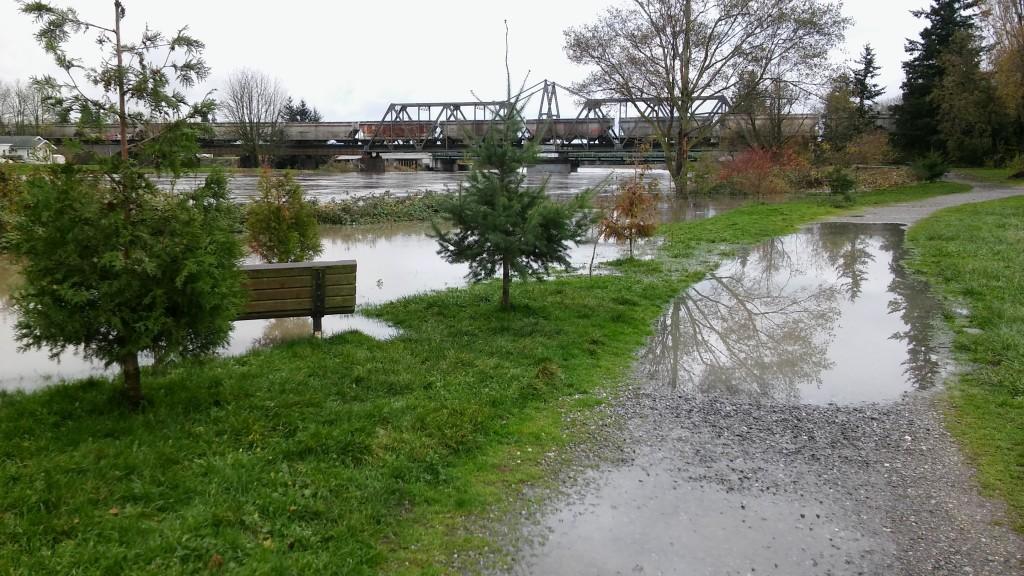 VanderYacht Park during 17' flooding 2015-11-14