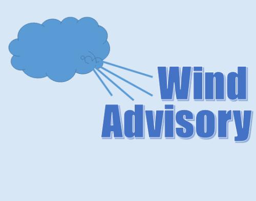 stock graphic - wind advisory sq