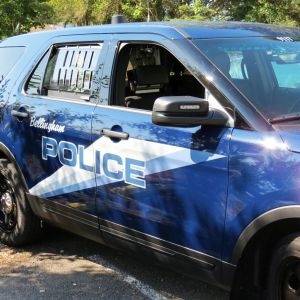 Bellingham Police vehicle (October 9, 2016). Photo: Whatcom News