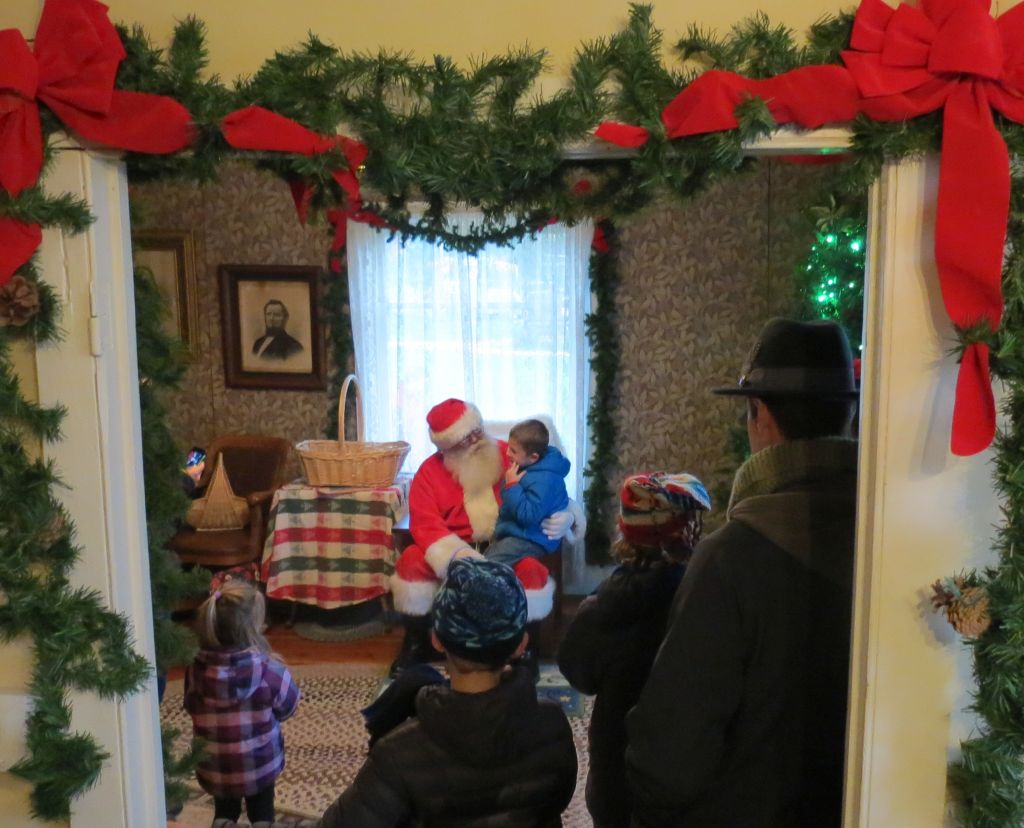 Guests meet Santa during Ferndale Heritage Society's 2016 Olde Fashioned Christmas (December 3, 2016). Photo: My Ferndale News