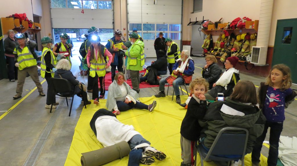 CERT 89 final exercise - victims fill the triage area