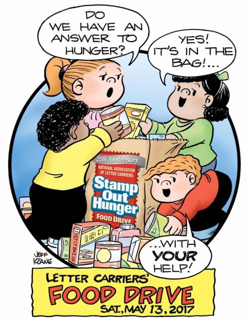 2017 25th annual letter carriers food drive graphic