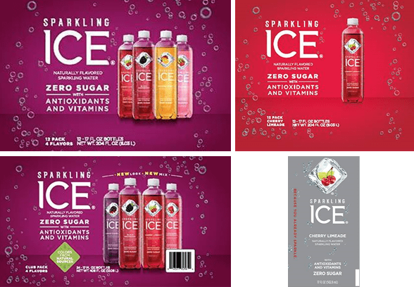 sparkling ice recalled product various packaging