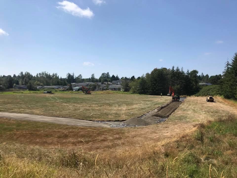 skyline elementary school track under contruction 2018-08-17 photo Alyssa Pavitt Skyline PTO Vice President