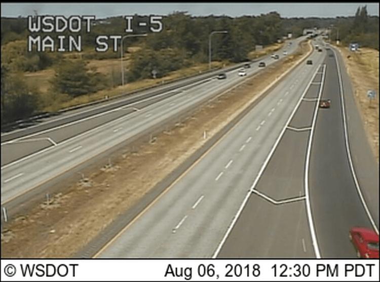 wsdot i-5 and main st camera image 2018-08-06