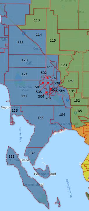 Ferndale area precinct map 2018