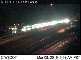 backup on sb I-5 at n lake samish 2019-03-08 0554