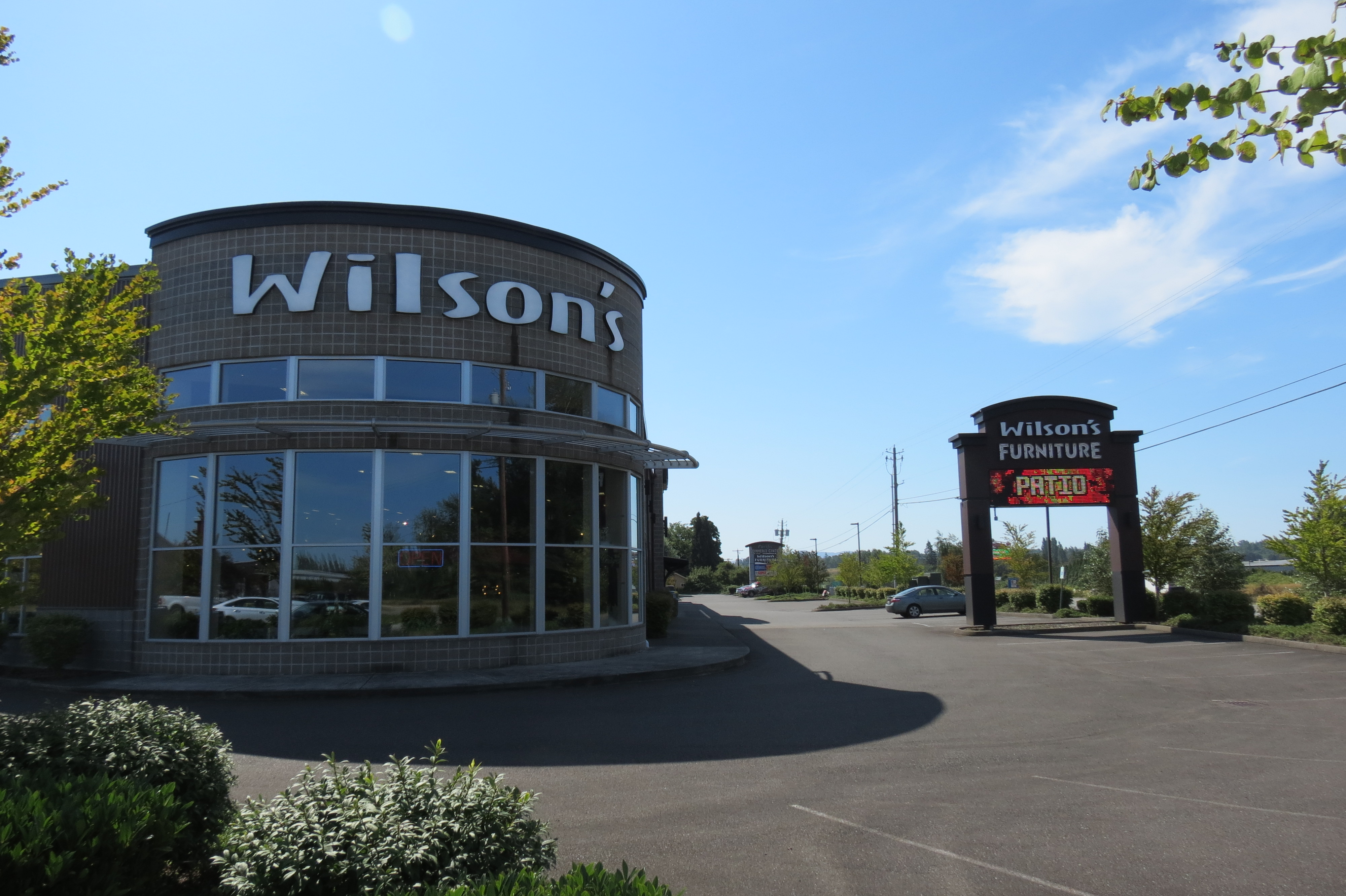 Wilson's Furniture location at 5080 Pacific Highway (July 17, 2018). Photo: My Ferndale News