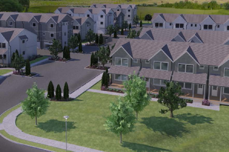 artist rendering of sunstone place 4plex development 2019-06