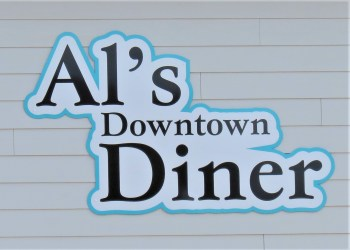 The new exterior sign is up at the soon to be open location of Al's Downtown Diner at 2012 Main Street. Photo: My Ferndale News