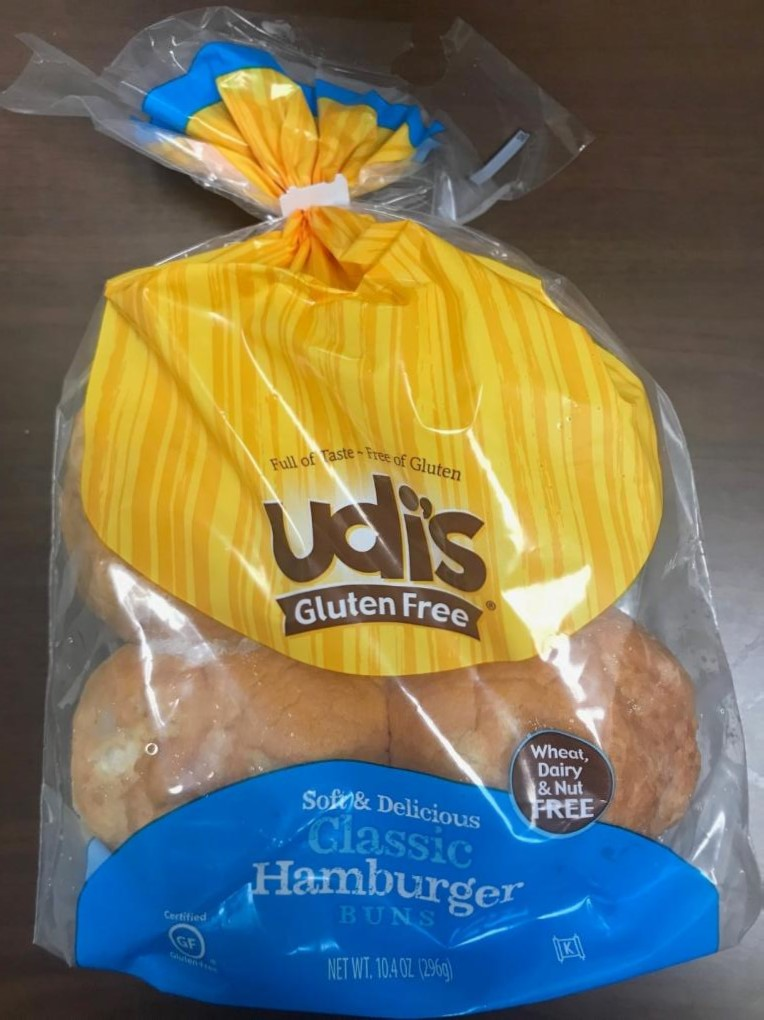 Package Front - Udi's Gluten Free, Classic Hamburger Buns