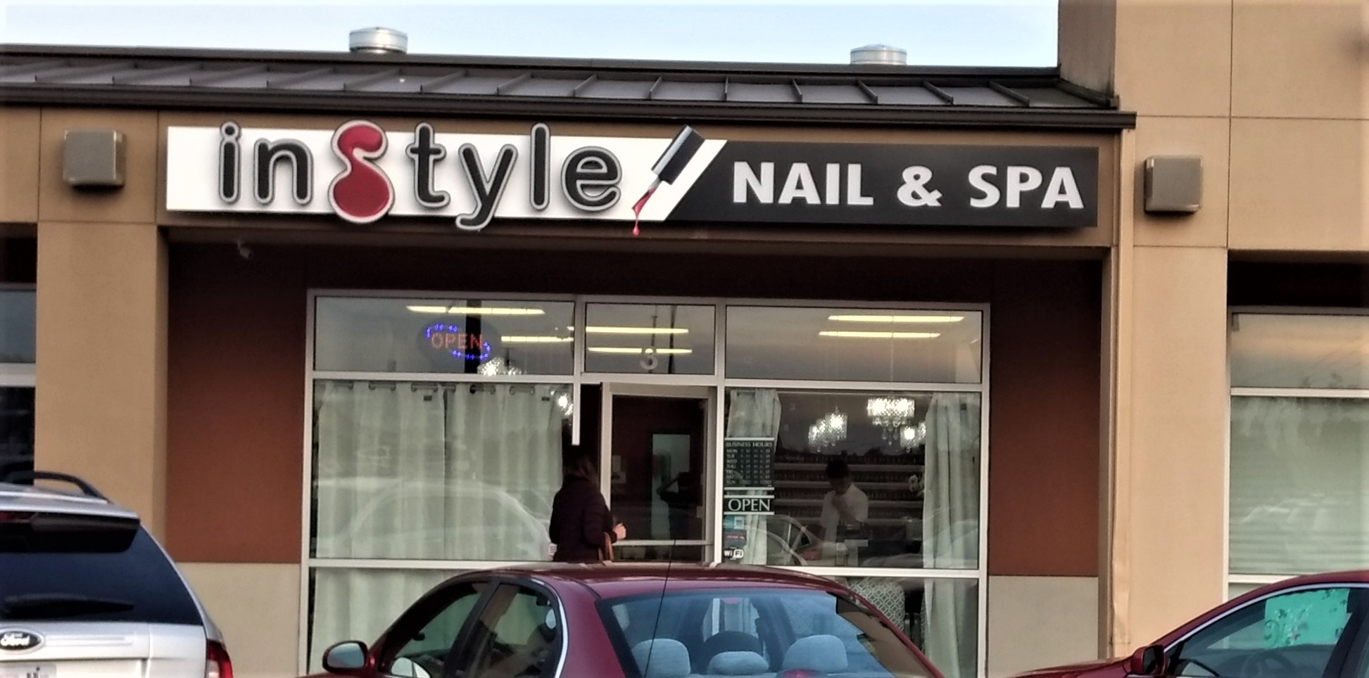 Exterior of the Instyle Nail & Spa at 1730 LaBounty Drive in Suite #3 (October 14, 2019). Photo: My Ferndale News