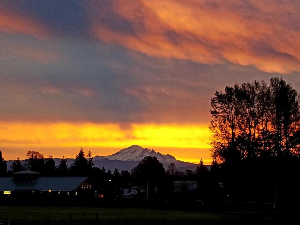 Sunrise (October 12, 2019) Photo credit: Patti Pace