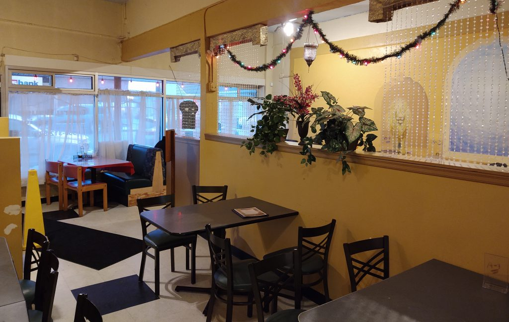 Curry House Cafe & Bar interior (January 20, 2020). Photo: My Ferndale News