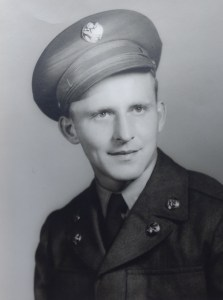 Photo of former Ferndale Police Chief and Fire Chief Lorne Jensen (1928-2019) in his military uniform. Photo courtesy of the Jensen family.