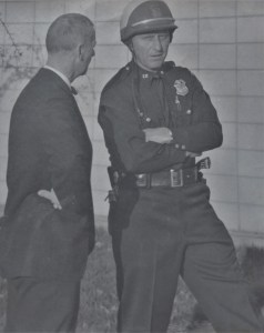 Ferndale Mayor Carl Fischer is seen talking with Police Chief Lorne Jensen (1928-2019) in this undated photo. Photo courtesy of the Jensen family.