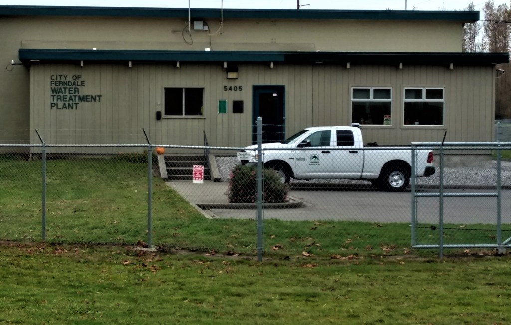 City of Ferndale Water Treatment Plant entrance (October 24, 2019). Photo: My Ferndale News