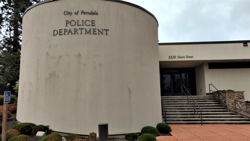 Ferndale Police Department entrance (May 21, 2019). Photo: My Ferndale News