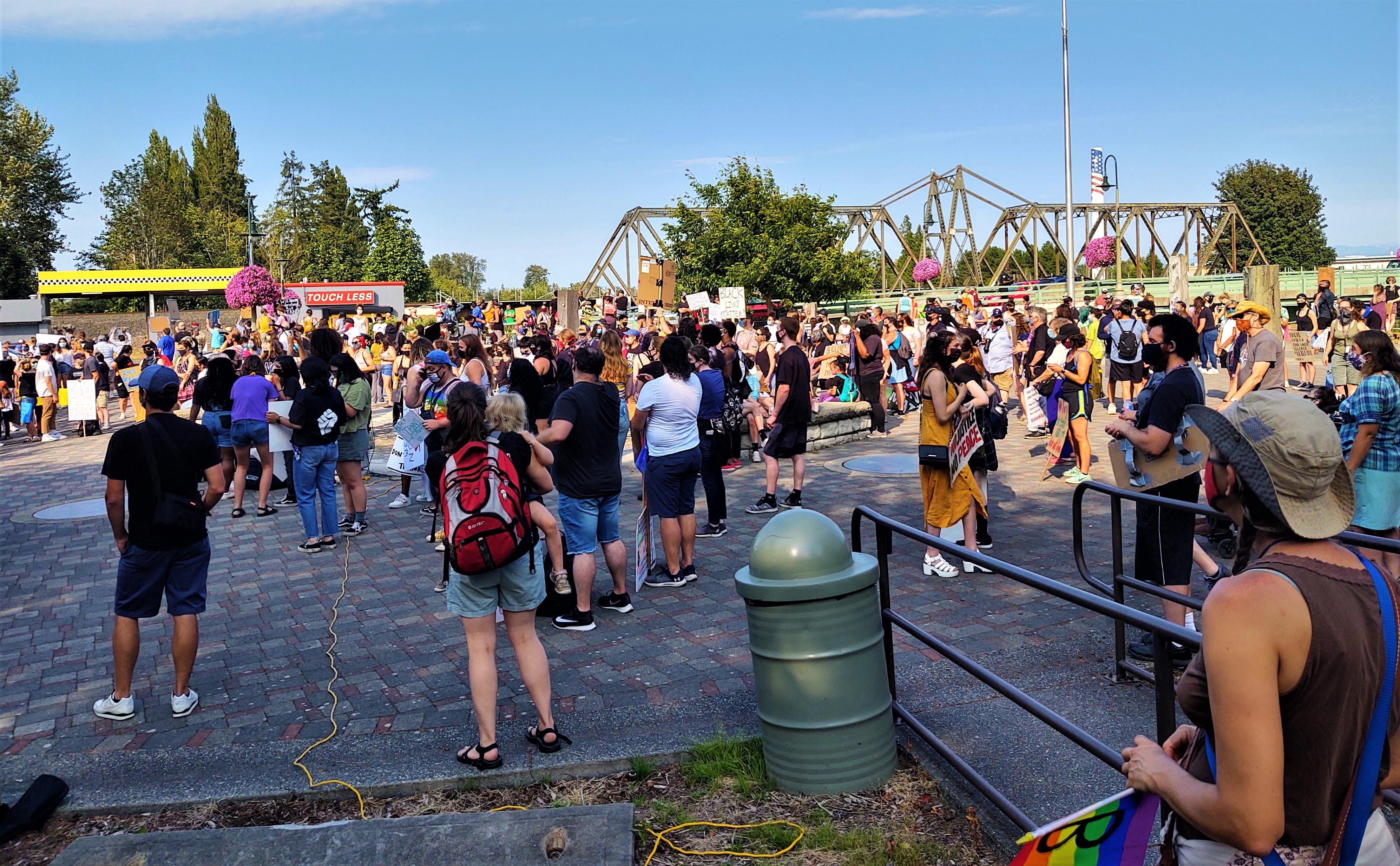 Black Lives Matter rally at Centennial Riverwalk Park (July 31, 2020). Photo: My Ferndale News