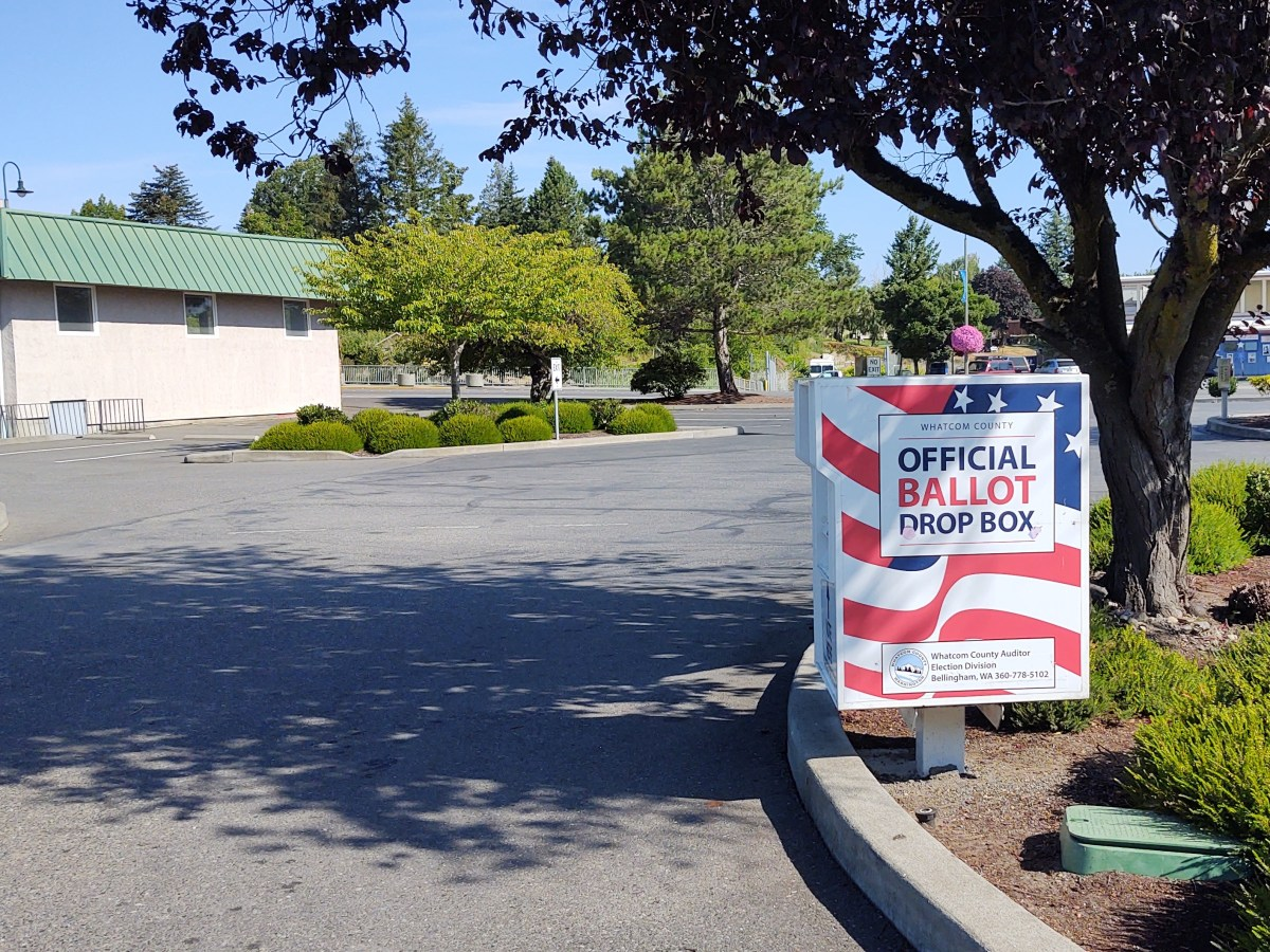 Ballot drop box located in the Ferndale City Hall parking lot (August 2020). Photo: My Ferndale News