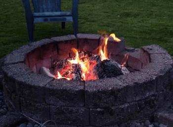 Backyard recreational campfire file photo. Whatcom News