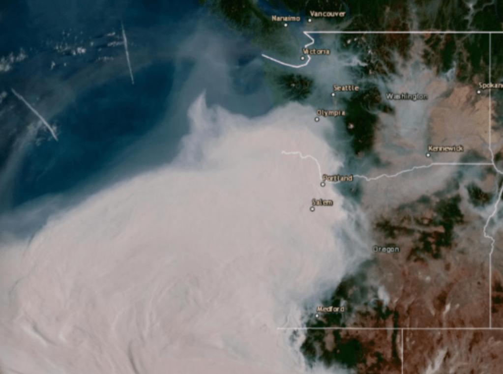 GOES satellite image (September 10, 2020 at 9am)