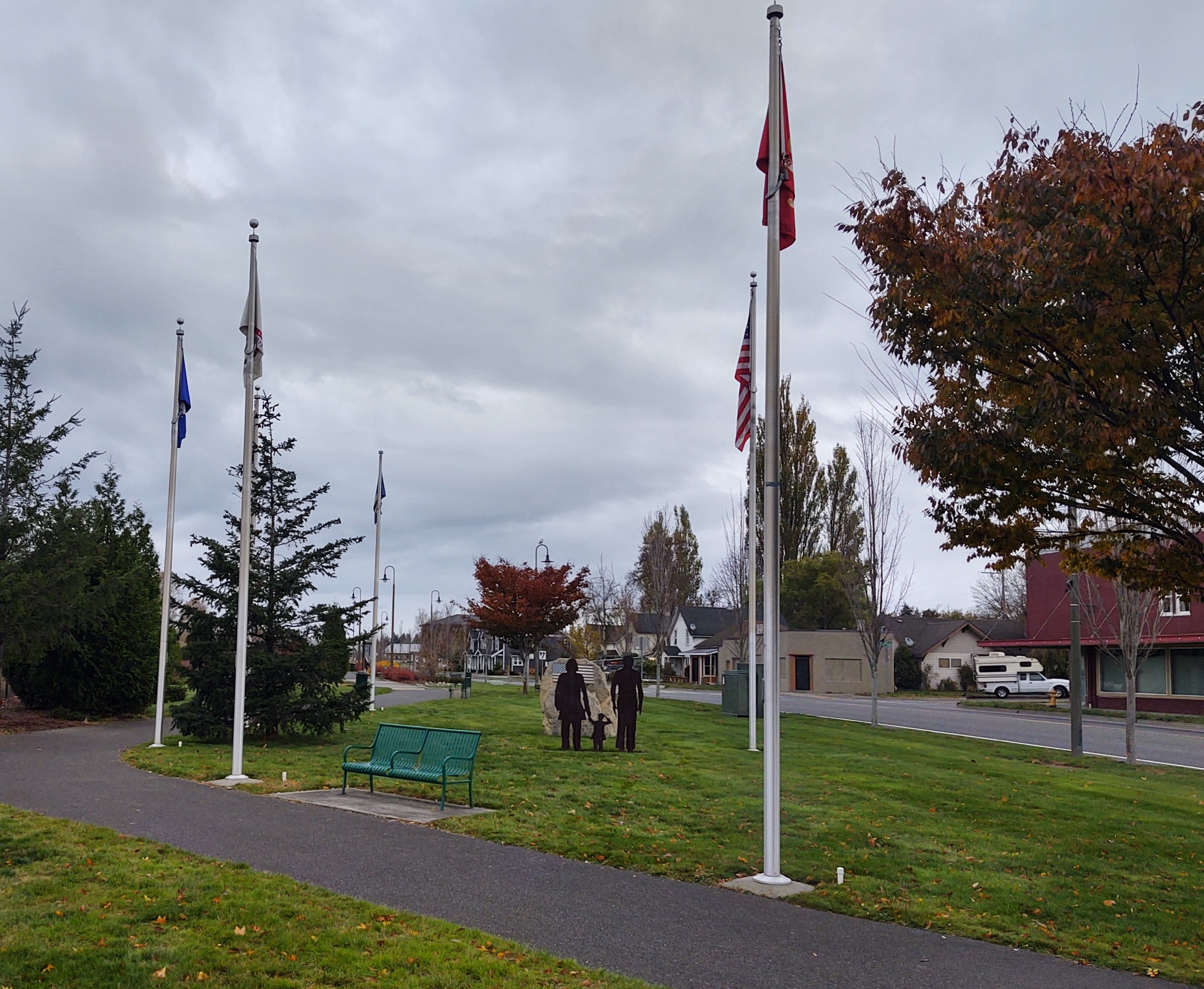 Monument at Griffintown Park honoring Veterans. Photo: My Ferndale News