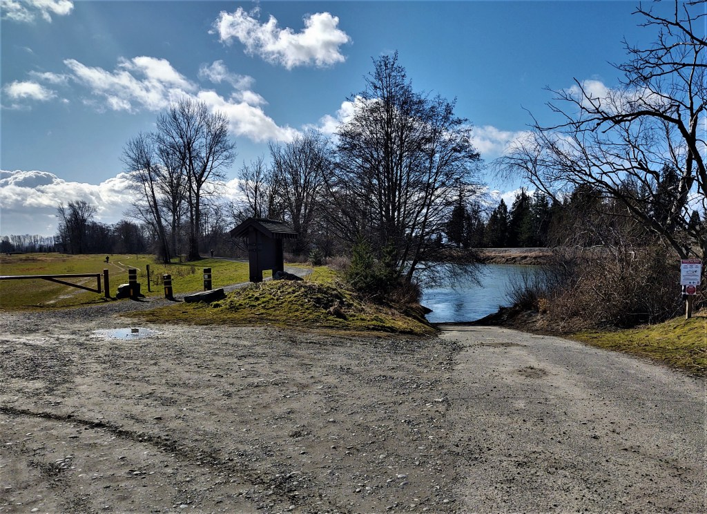 Nooksack River boat launch (February 26, 2021). Photo: My Ferndale News