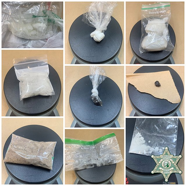 Evidence seized during an arrest following a 3-month investigation (June 22, 2021). Photo courtesy of WCSO