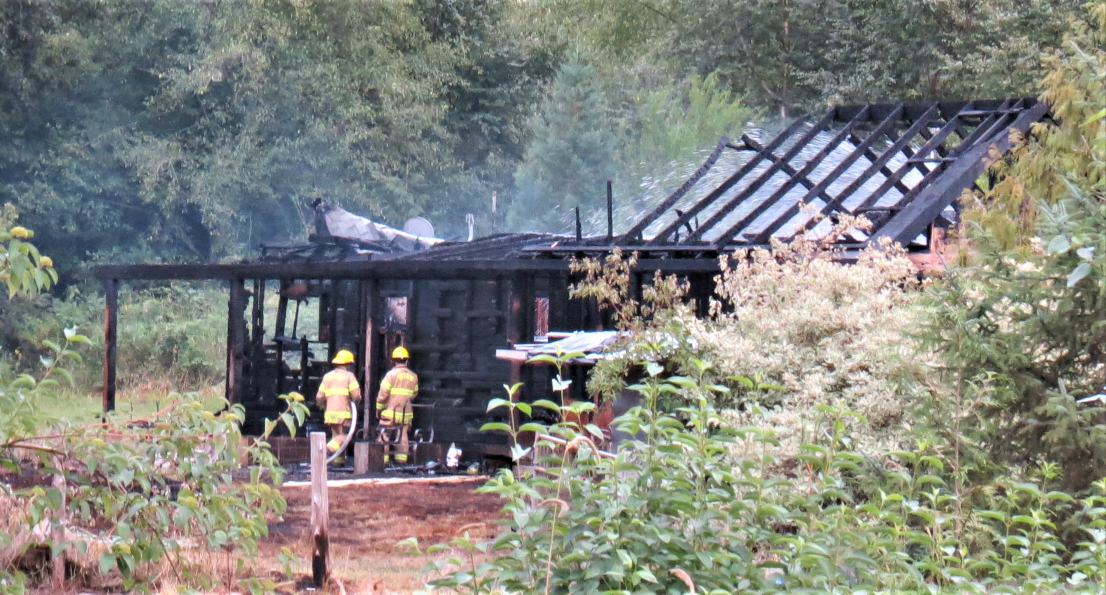 Scene of a residential fire in Deming (August 15, 2021). Photo: Whatcom News