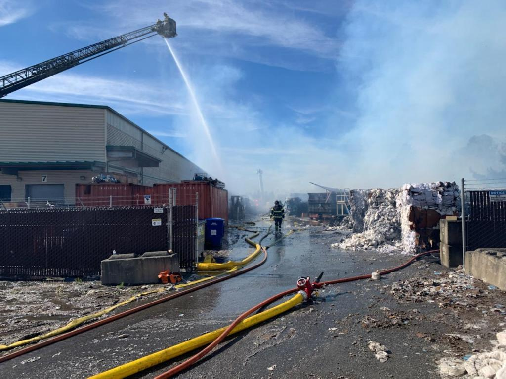Scene of a commercial outside fire on Salashan Parkway (September 7, 2021). Photo courtesy of WCFD7