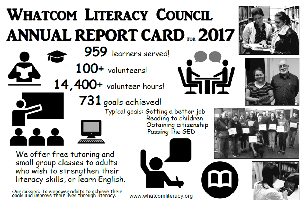 Grades Are In: The Whatcom Literacy Council's 2017 Annual