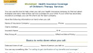 Insurance Worksheet