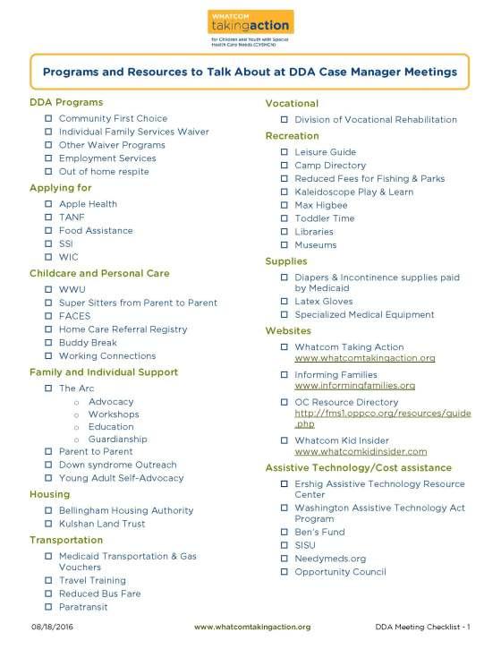 DDA Caseworker checklist 2016-08-18