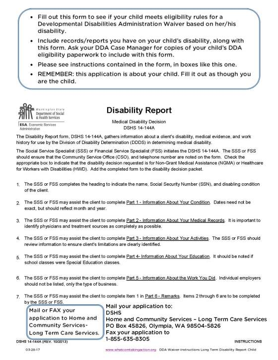DDA Waiver - Instructions Long Term Disability Report Child 2017-03-28_Page_1