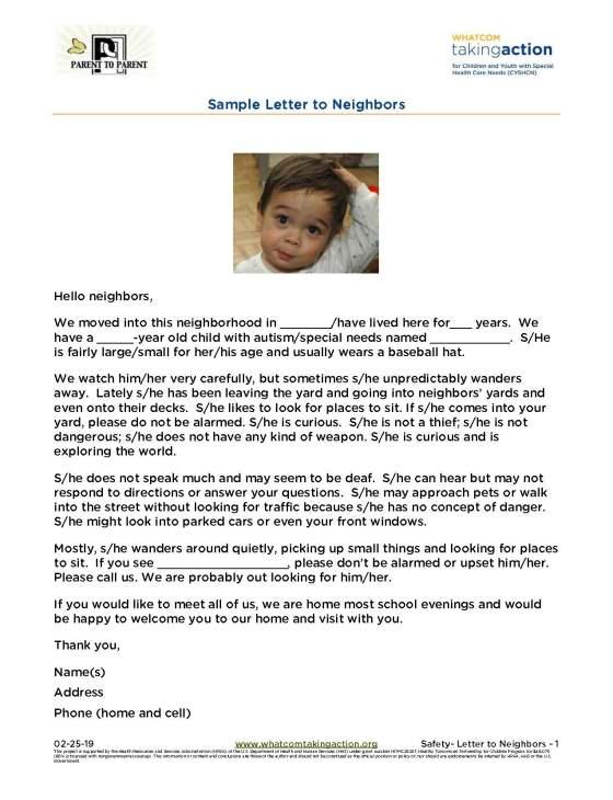 Safety- Letter-Neighbors 2019-02-25